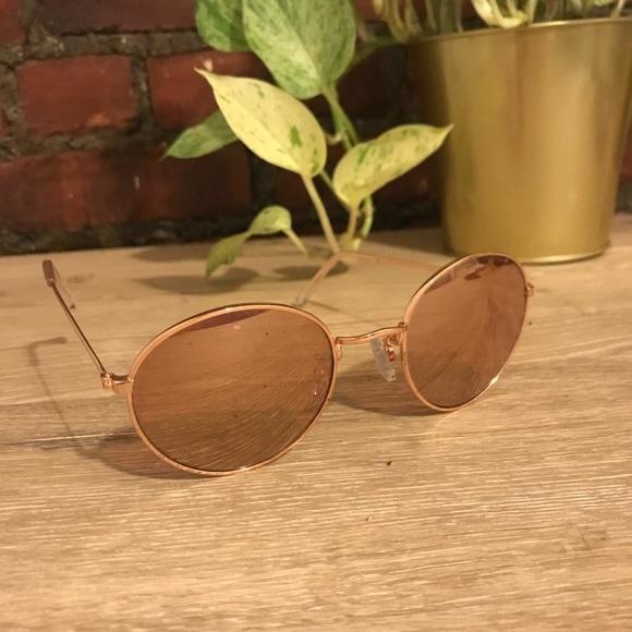 23ecd8050c48 H&M Accessories   Hm Rose Goldmirrored Round Sunglasses   Poshmark